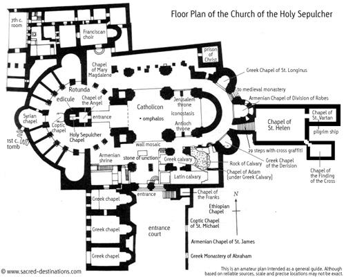 Church of the Holy Sepulchre Floor Plan