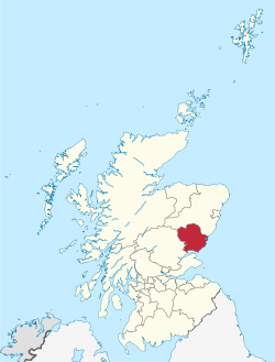 Angus within Scotland